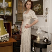 1940s vintage wedding dress