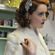 Vintage accessories, hair bands, veils, veil combs and fur from Abigail's Vintge Bridal