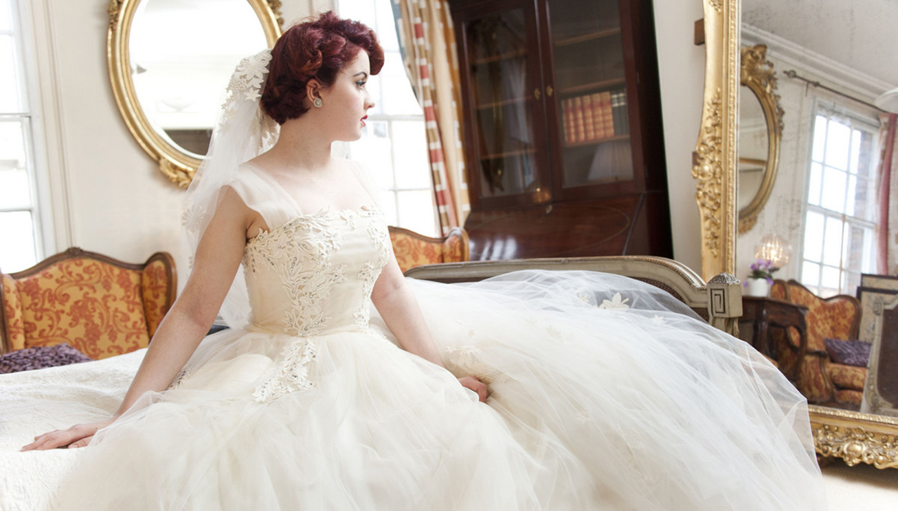 1950s Guipre Lace And Tulle With 1960s Veil 1